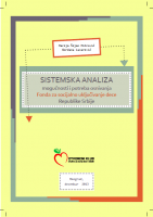 Sistemska analiza mogućnosti i potreba osnivanja Fonda za socijalno uključivanje dece Republike Srbije